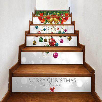Christmas Bells Baubles Pattern Decorative Stair Decals