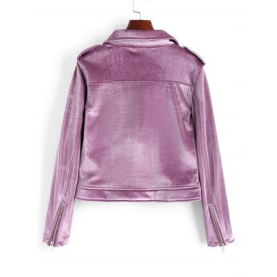 Velvet Zip Up Biker JacketJackets &amp; Coats<br>Velvet Zip Up Biker Jacket<br><br>Clothes Type: Jackets<br>Collar: Lapel<br>Material: Cotton, Polyester<br>Package Contents: 1 x Jacket<br>Pattern Type: Solid<br>Shirt Length: Short<br>Sleeve Length: Full<br>Style: Fashion<br>Type: Slim<br>Weight: 0.7000kg