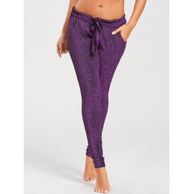 Glitter Self Tie Pencil PantsPants<br>Glitter Self Tie Pencil Pants<br><br>Closure Type: Elastic Waist<br>Fit Type: Regular<br>Length: Normal<br>Material: Polyester, Spandex<br>Package Contents: 1 x Pants<br>Pant Style: Pencil Pants<br>Pattern Type: Others<br>Style: Fashion<br>Waist Type: Low<br>Weight: 0.2650kg