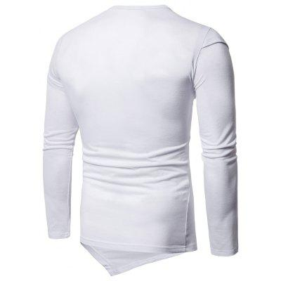 Panel Design Layered Long Sleeve Asymmetric TeeMens Long Sleeves Tees<br>Panel Design Layered Long Sleeve Asymmetric Tee<br><br>Collar: Round Neck<br>Material: Cotton, Spandex<br>Package Contents: 1 x Tee<br>Pattern Type: Solid<br>Season: Fall, Spring<br>Sleeve Length: Full<br>Style: Casual, Fashion<br>Weight: 0.3800kg