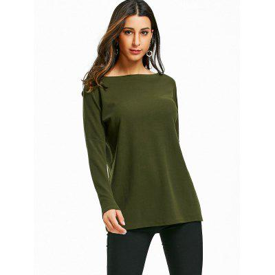 Boat Neck Drop Shoulder TopBlouses<br>Boat Neck Drop Shoulder Top<br><br>Collar: Boat Neck<br>Material: Polyester<br>Package Contents: 1 x Top<br>Pattern Type: Solid<br>Season: Fall, Spring<br>Shirt Length: Regular<br>Sleeve Length: Full<br>Style: Casual<br>Weight: 0.3650kg