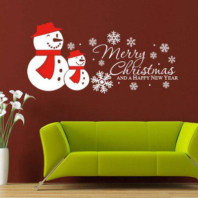 Buy Christmas Snowmen Snowflake Pattern Wall Sticker For Living Room, WHITE, Home & Garden, Home Decors, Wall Art, Wall Stickers for $4.52 in GearBest store
