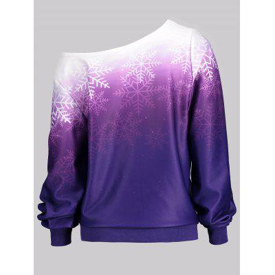 Ombre Color Snowflake Print Skew Neck SweatshirtSweatshirts &amp; Hoodies<br>Ombre Color Snowflake Print Skew Neck Sweatshirt<br><br>Material: Polyester<br>Package Contents: 1 x Sweatshirt<br>Pattern Style: Ombre<br>Season: Fall, Spring<br>Shirt Length: Regular<br>Sleeve Length: Full<br>Style: Casual<br>Weight: 0.3600kg