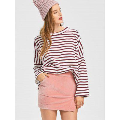 Drop Shoulder Oversized Striped SweatshirtSweatshirts &amp; Hoodies<br>Drop Shoulder Oversized Striped Sweatshirt<br><br>Clothing Style: Sweatshirt<br>Material: Polyester<br>Package Contents: 1 x Sweatshirt<br>Pattern Style: Striped<br>Shirt Length: Long<br>Sleeve Length: Full<br>Weight: 0.4650kg