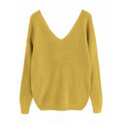 Twist Pearly V Neck SweaterSweaters &amp; Cardigans<br>Twist Pearly V Neck Sweater<br><br>Collar: V-Neck<br>Material: Acrylic, Cotton, Polyester<br>Package Contents: 1 x Sweater<br>Pattern Type: Solid<br>Sleeve Length: Full<br>Style: Fashion<br>Type: Pullovers<br>Weight: 0.4350kg