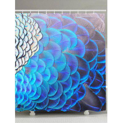 Peacock Feathers Pattern Bathroom Shower Curtain
