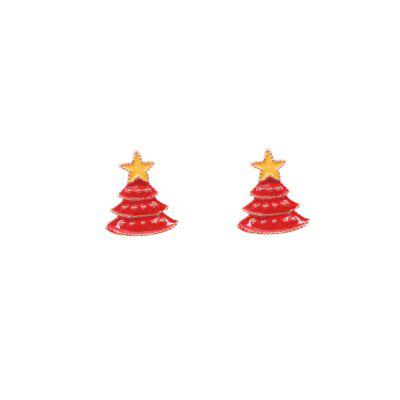 Buy Cute Christmas Star Tree Stud Earrings, RED, Watches & Jewelry, Fashion Jewelry, Earrings for $1.27 in GearBest store