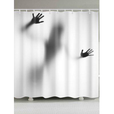 Mysterious Shadow Printed Waterproof Shower Curtain