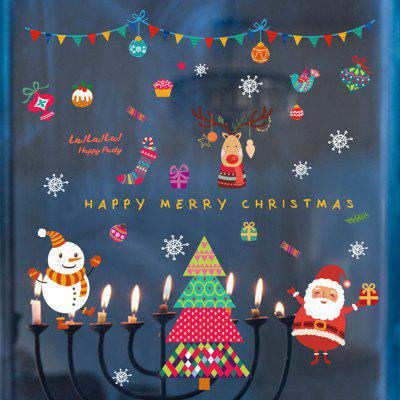 Buy Cartoon Christmas Graphic Pattern DIY Wall Stickers, COLORFUL, Home & Garden, Home Decors, Wall Art, Wall Stickers for $3.02 in GearBest store