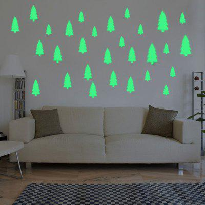 Noctilucence Christmas Tree Shape DIY Wall Stickers