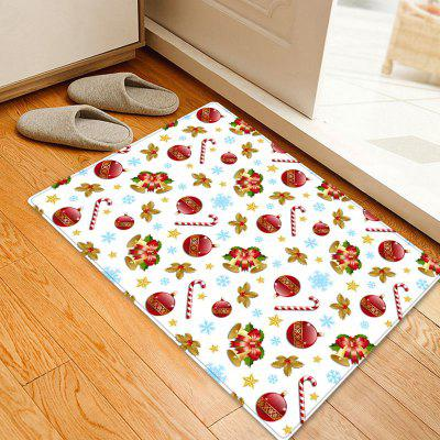 Christmas Baubles Bells Pattern Water Absorption Area Rug