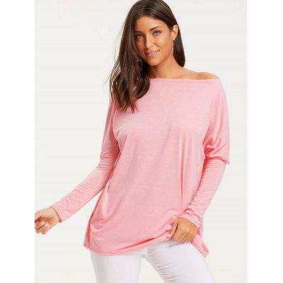 Skew Neck Batwing Sleeve Tunic T-shirtBlouses<br>Skew Neck Batwing Sleeve Tunic T-shirt<br><br>Collar: Skew Collar<br>Material: Cotton, Polyester<br>Package Contents: 1 x T-shirt<br>Pattern Type: Solid<br>Season: Fall, Spring<br>Shirt Length: Long<br>Sleeve Length: Full<br>Style: Fashion<br>Weight: 0.3000kg