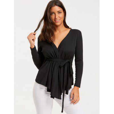 Plunging Neckline Wrap Draped CardiganSweaters &amp; Cardigans<br>Plunging Neckline Wrap Draped Cardigan<br><br>Collar: Plunging Neck<br>Material: Polyester, Spandex<br>Package Contents: 1 x Cardigan<br>Pattern Type: Solid<br>Season: Spring, Fall<br>Sleeve Length: Full<br>Style: Fashion<br>Type: Cardigans<br>Weight: 0.3500kg