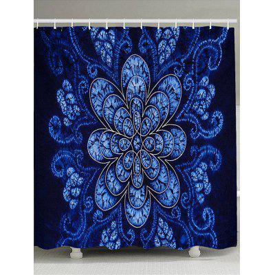 Flower Printed Bathroom Shower Curtain