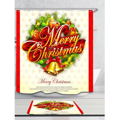 Merry Christmas Bells Pattern Bath CurtainShower Curtain<br>Merry Christmas Bells Pattern Bath Curtain<br><br>Materials: Polyester<br>Number of Hook Holes: W59 inch * L71 inch:10, W71 inch * L71 inch:12, W71 inch * L79 inch:12<br>Package Contents: 1 x Shower Curtain 1 x Hooks (Set)<br>Pattern: Letter<br>Products Type: Shower Curtains<br>Style: Festival