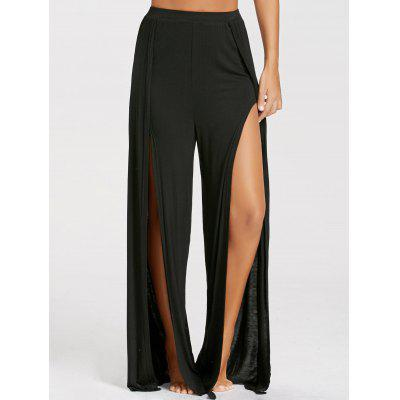 High Split High Waist Palazzo PantsPants<br>High Split High Waist Palazzo Pants<br><br>Closure Type: Elastic Waist<br>Fit Type: Loose<br>Length: Overlength<br>Material: Polyester<br>Package Contents: 1 x Pants<br>Pant Style: Wide Leg Pants<br>Pattern Type: Solid<br>Style: Fashion<br>Waist Type: High<br>Weight: 0.3000kg