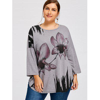 Plus Size Rhinestone Embellished Floral Drop Shoulder T-shirtPlus Size Tops<br>Plus Size Rhinestone Embellished Floral Drop Shoulder T-shirt<br><br>Collar: Round Neck<br>Embellishment: Rhinestone<br>Material: Polyester, Spandex<br>Package Contents: 1 x T-shirt<br>Pattern Type: Floral<br>Season: Spring, Fall<br>Shirt Length: Long<br>Sleeve Length: Full<br>Style: Fashion<br>Weight: 0.3500kg