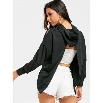Back Slit Dip Hem HoodieSweatshirts &amp; Hoodies<br>Back Slit Dip Hem Hoodie<br><br>Material: Polyester<br>Package Contents: 1 x Hoodie<br>Pattern Style: Solid<br>Season: Fall, Spring<br>Shirt Length: Regular<br>Sleeve Length: Full<br>Style: Casual<br>Weight: 0.3400kg
