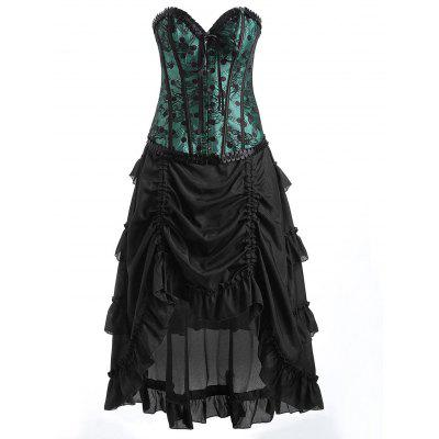 Lace Underbust Corset with Ruffles Skirt