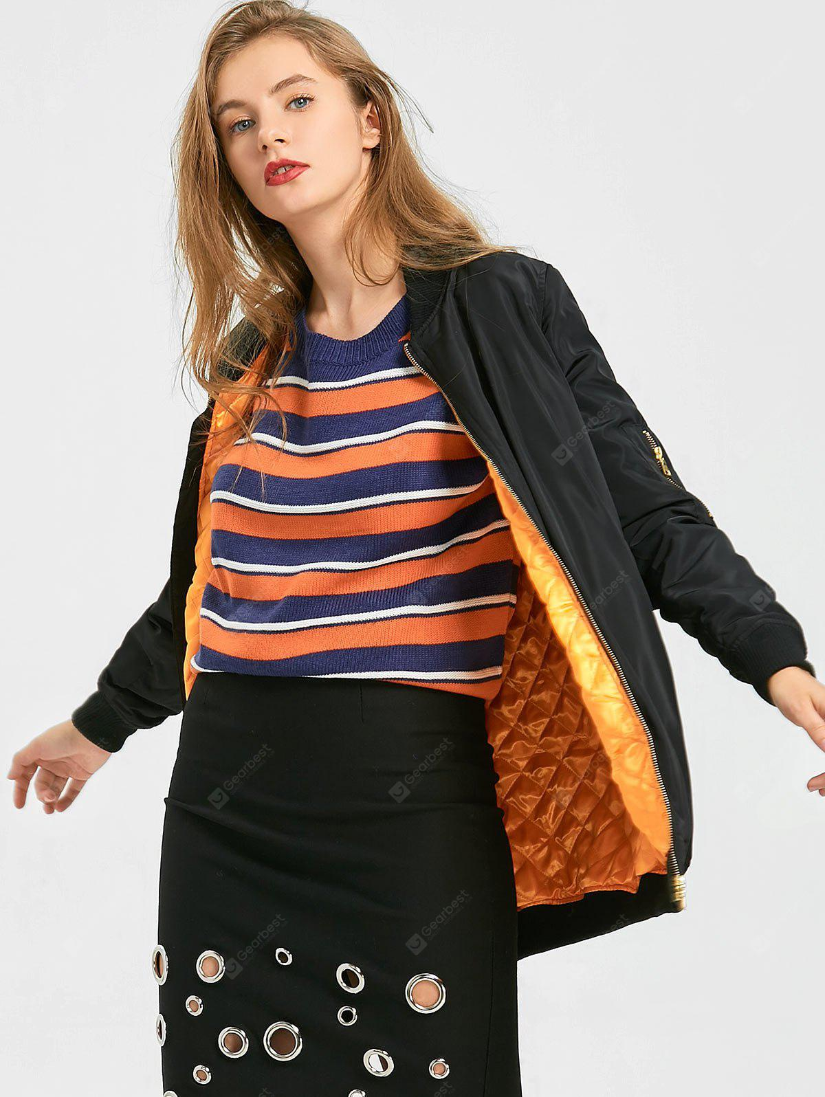 Puffer Zip Up Coat with Pockets