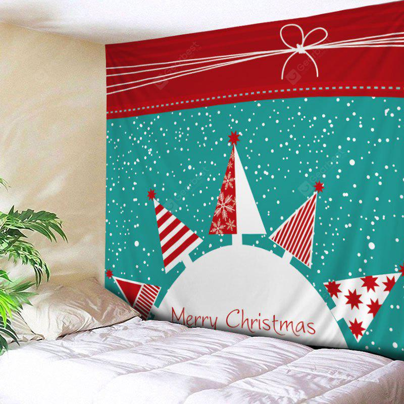 Wall Hanging Art Snowy Christmas Trees Print Tapestry