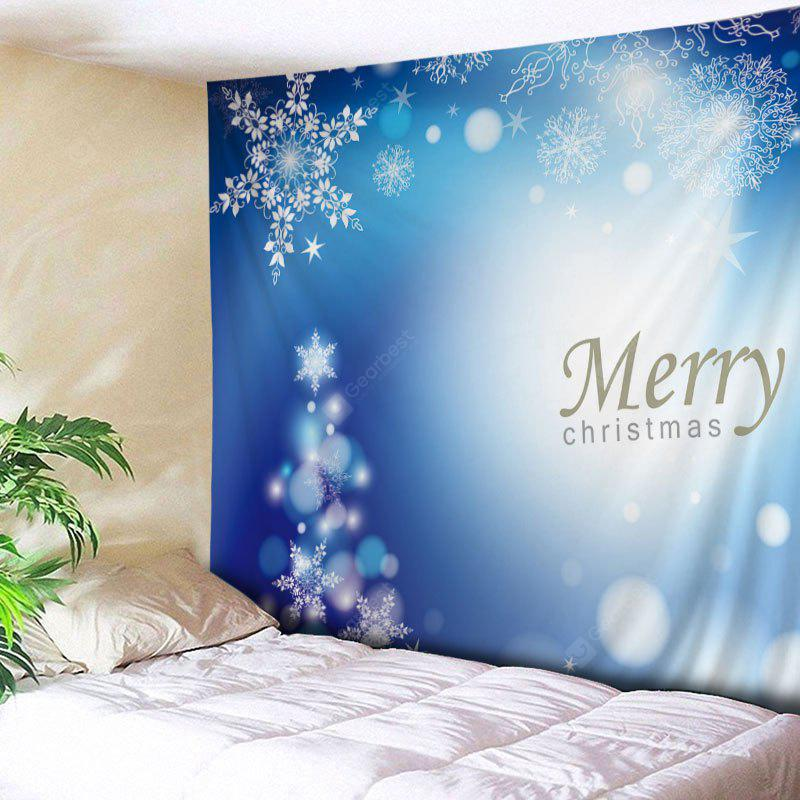 Wall Hanging Art Decor Merry Christmas Snowflakes Print Tapestry
