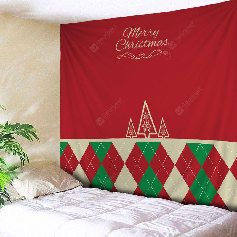 Wall Hanging Art Christmas Plaid Print Tapestry