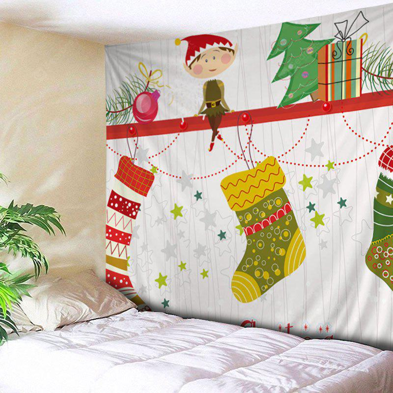 Wall Hanging Art Christmas Fairy Stockings Print Tapestry