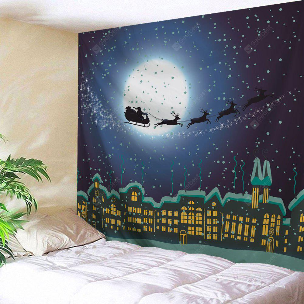 Christmas City Sled Print Wall Hanging Tapestry