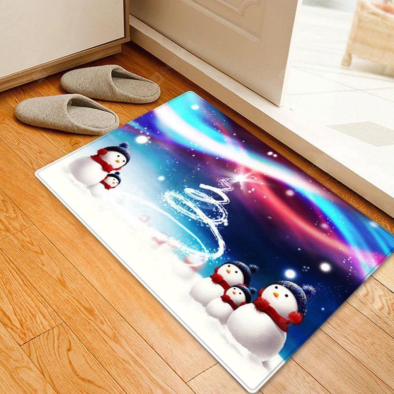 Snowy Christmas Snowmen Pattern Water Absorption Area Rug