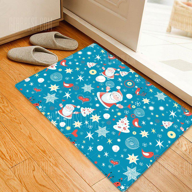 Christmas Santa Star Pattern Water Absorption Area Rug
