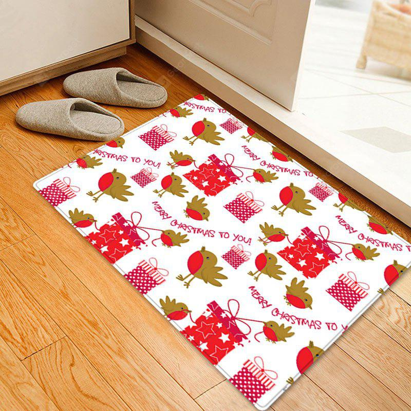 Christmas Gifts Birds Pattern Water Absorption Area Rug