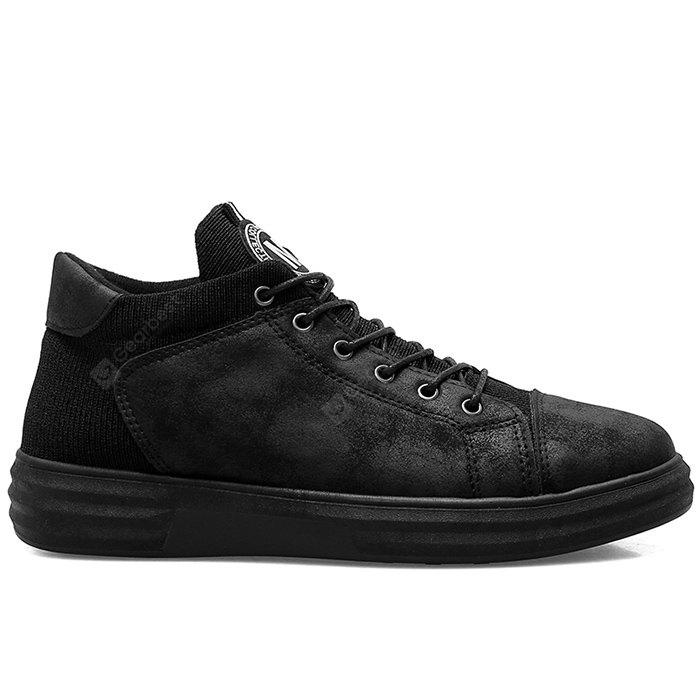 Leather Patch Faux Leather Casual Shoes