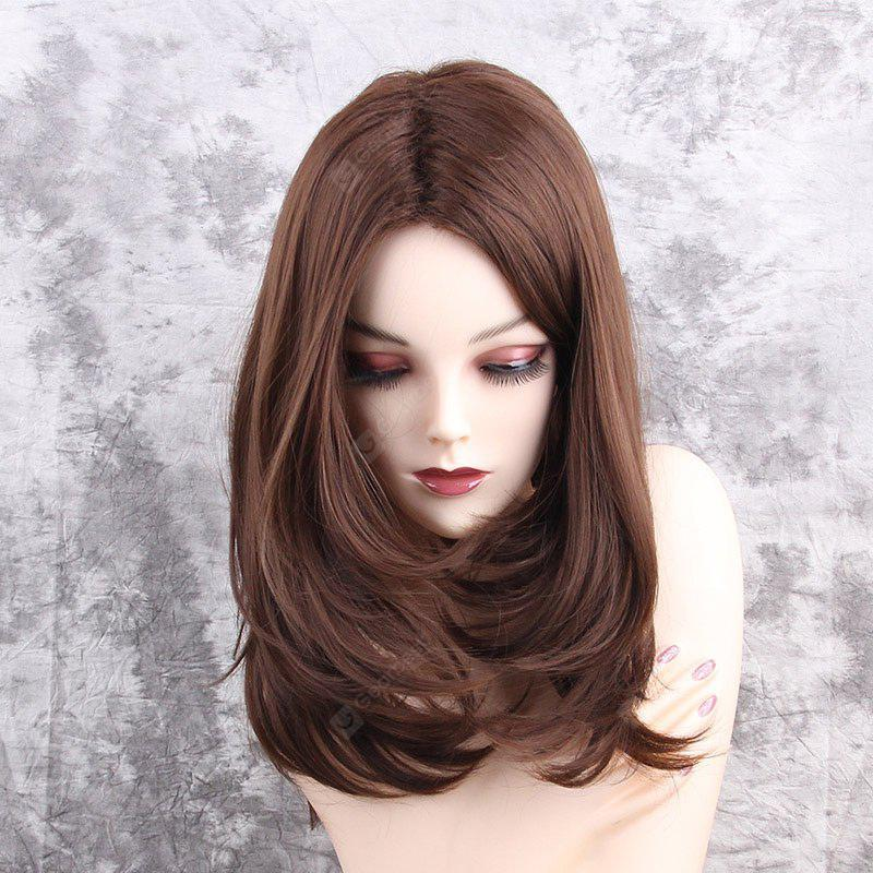 Medium Center Parting Layered Straight Synthetic Wig