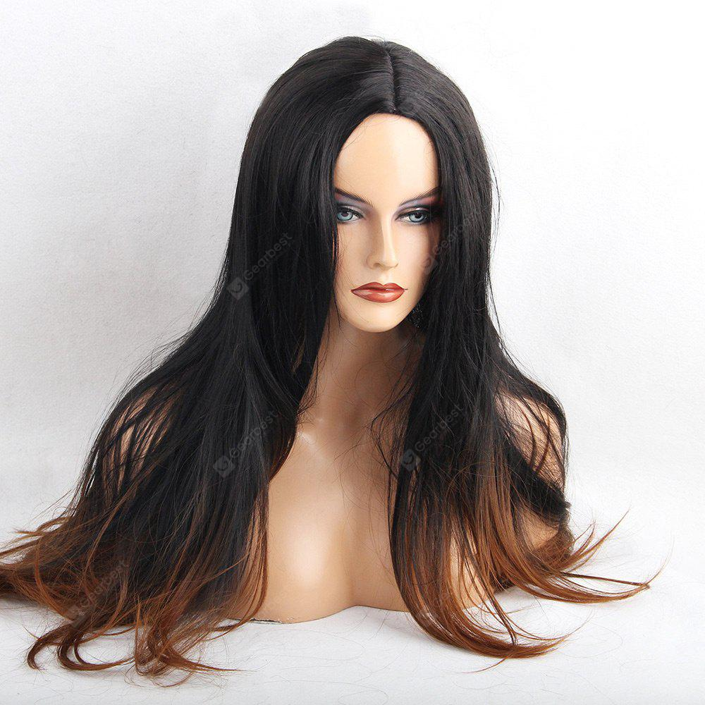 Long Center Parting Layered Straight Ombre Synthetic Wig