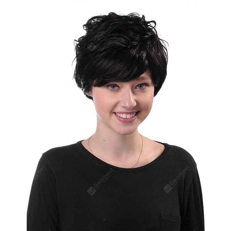 Short Side Bang Fluffy Layered Curly Synthetic Wig