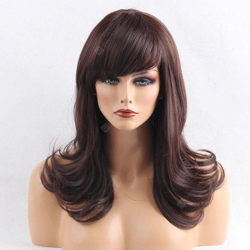 Medium Side Bang Layered Curly Synthetic Wig