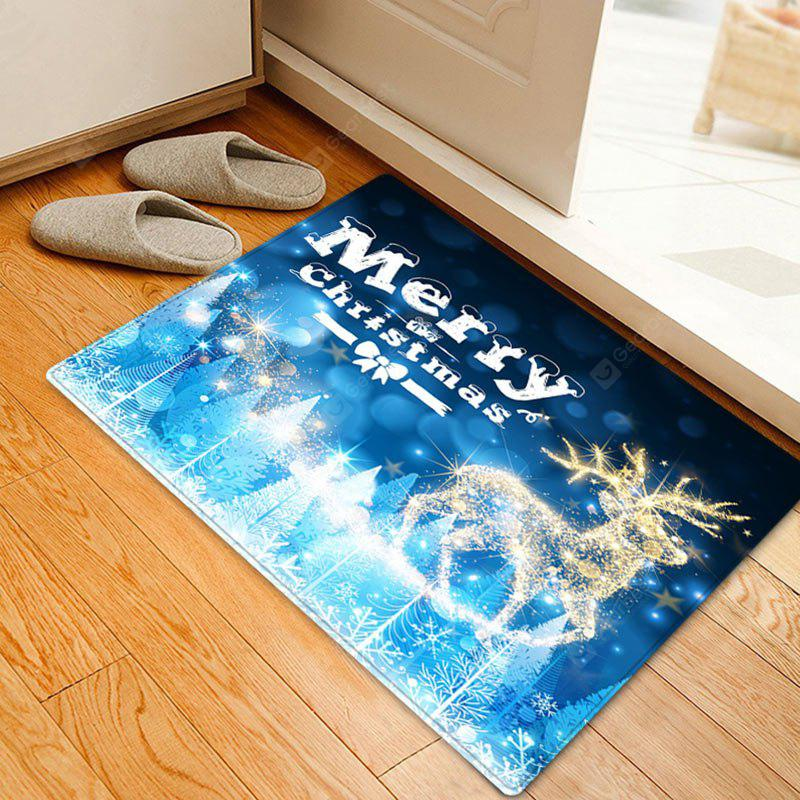 Christmas Deer Forest Pattern Water Absorption Area Rug