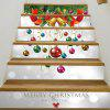 Christmas Bells Baubles Pattern Decorative Stair Decals - COLORMIX