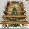 Christmas Tree Woodgrain Pattern Decorative Stair Decals - COLORMIX