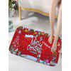 Merry Christmas Printed Flannel Nonslip Bath Mat - RED