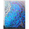Peacock Feathers Pattern Bathroom Shower Curtain - BLUE