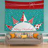 Wall Hanging Art Snowy Christmas Trees Print Tapestry - COLORMIX