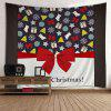 Wall Hanging Art Merry Christmas Theme Print Tapestry - COLORMIX