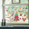 Cartoon Christmas Graphic Pattern DIY Wall Stickers - COLORFUL