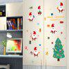 Home Decor Santa Claus Shape DIY Wall Stickers - COLORFUL