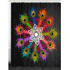 Feathers Flower Printed Bathroom Shower Curtain - COLORFUL