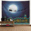 Christmas City Sled Print Wall Hanging Tapestry - COLORMIX