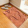 Christmas Beach Heart Pattern Water Absorption Area Rug - BRICK-RED
