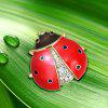 Broche insecte strass minuscule - ROUGE
